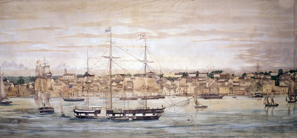 "Painting of a ""Grand Panorama of a Whaling Voyage"""