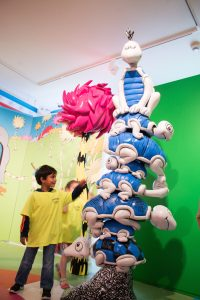 Stacked turtle exhibit in the Amazing World of Dr. Seuss Museum