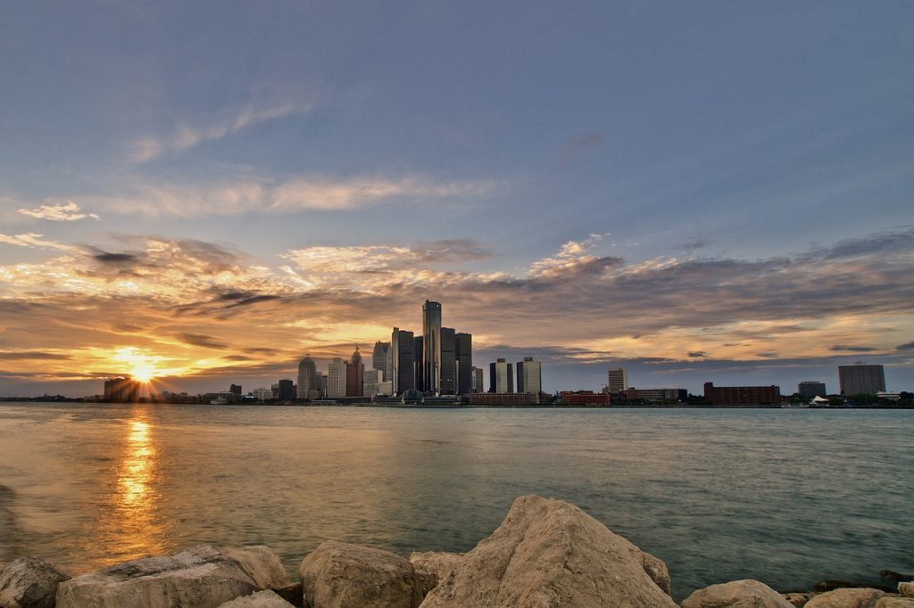 Detroit, Michigan skyline view