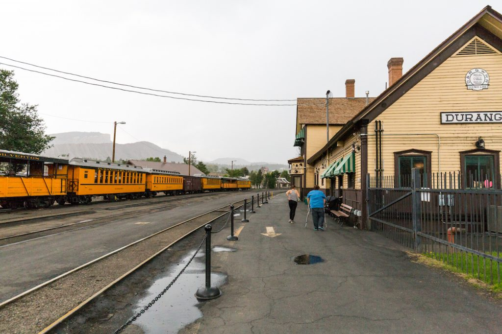 The outside of the Durango and Silverton Railroad