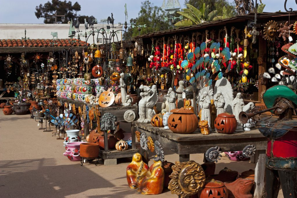 funky pottery shop in california