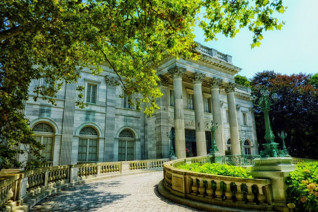 marble house on Bellvue Avenue in Rhode Island