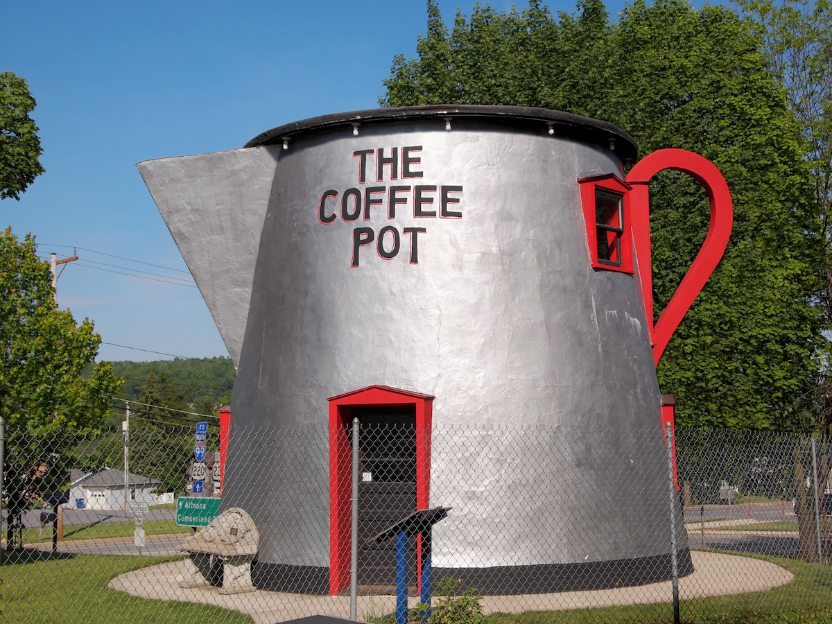 Giant Coffee Pot Attractions Across the U.S.