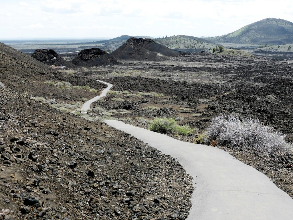 nature crater in Craters of the Moon National Monument