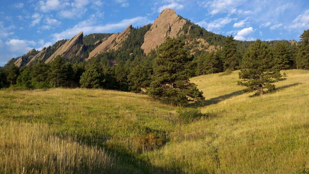 Chautauqua Park on a sunny day in Boulder, CO