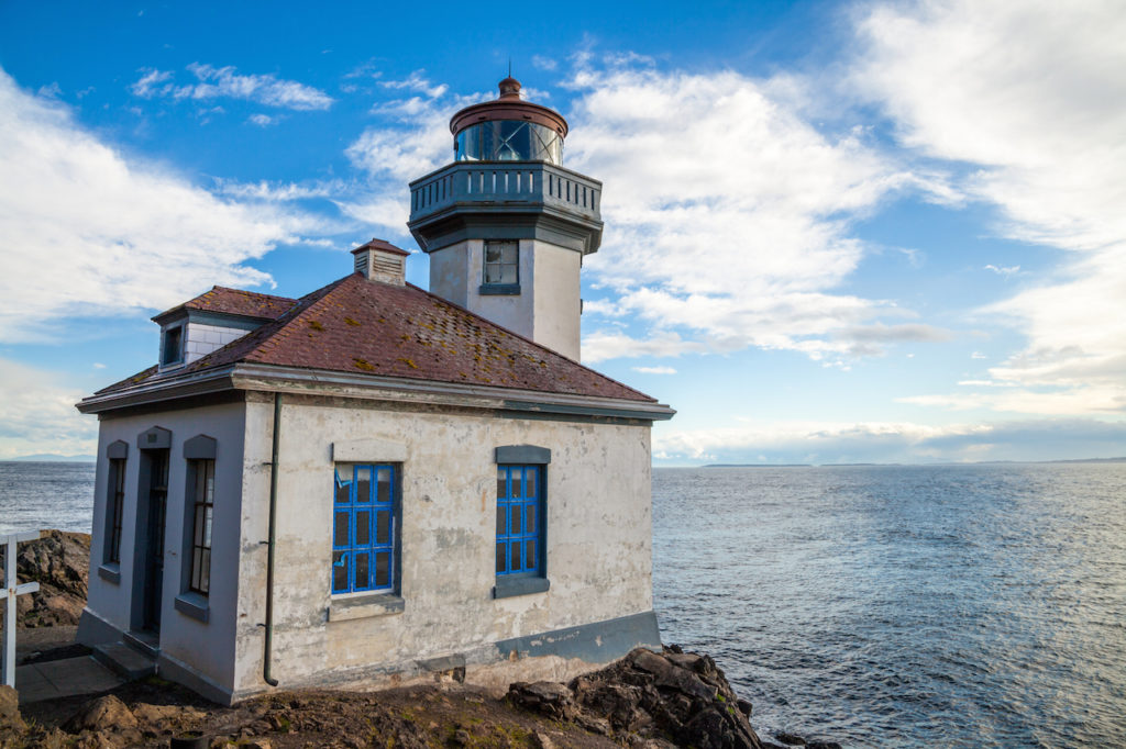 Lime Kiln lighthouse on San Juan Island, Washington, USA