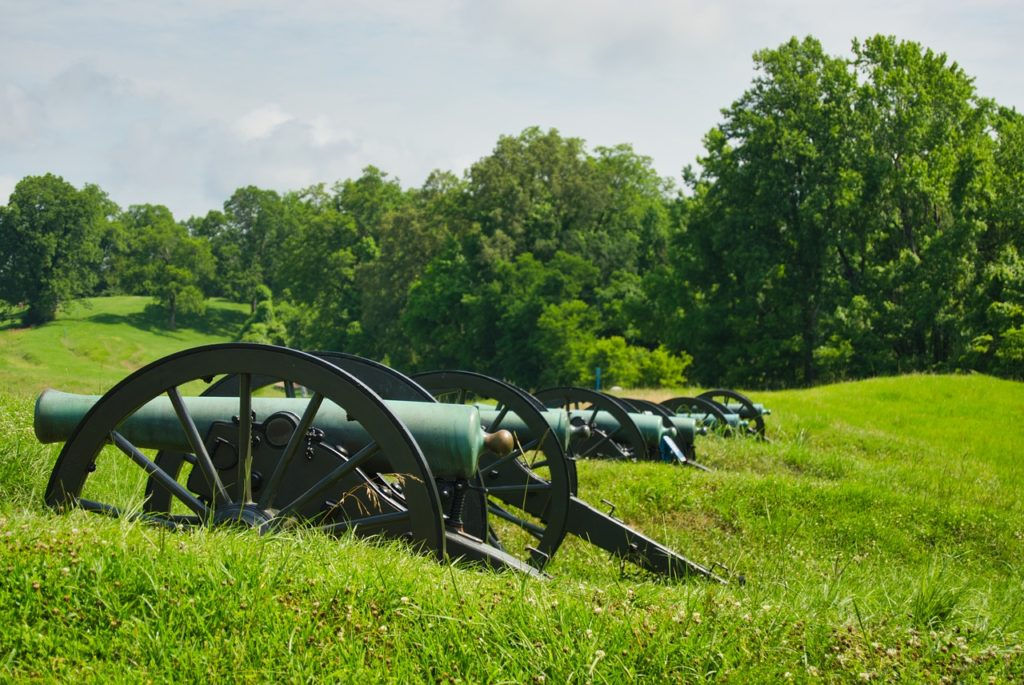 Canon in field at Vicksburg National Military Park, Mississippi