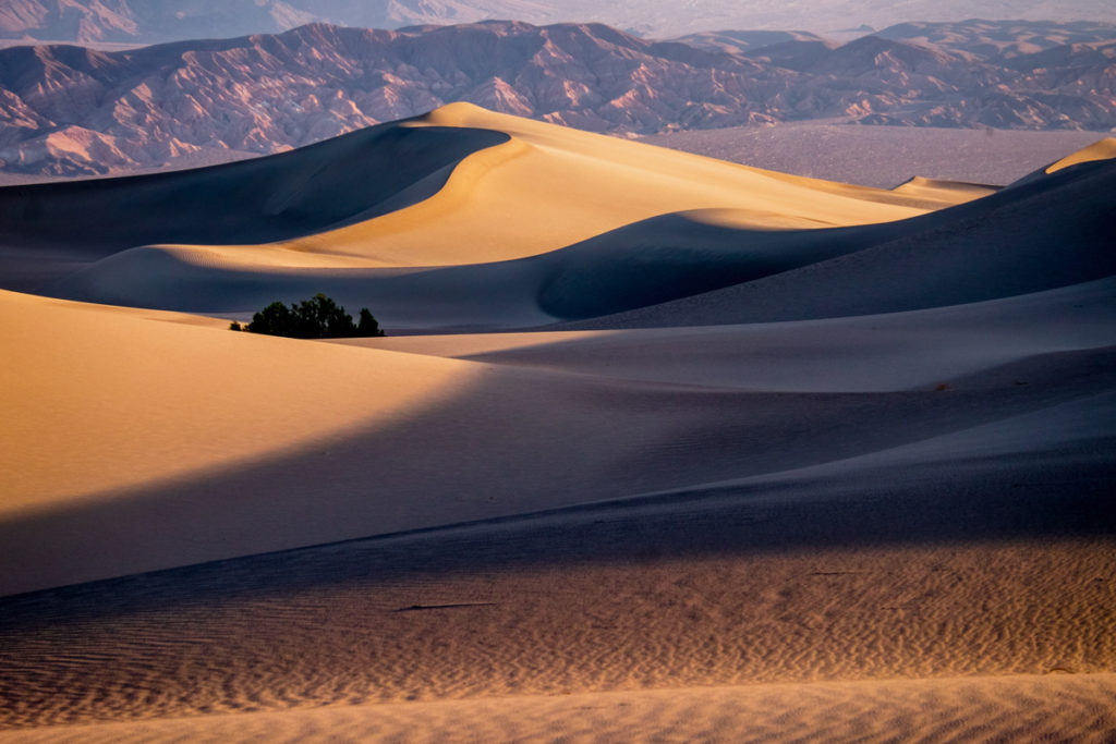 Miles of sand dunes inside Death Valley National Park