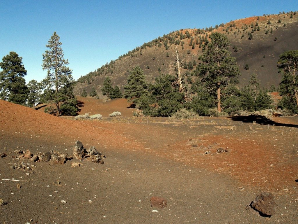 Sunset Crater Volcano National Monument in Flagstaff Arizona