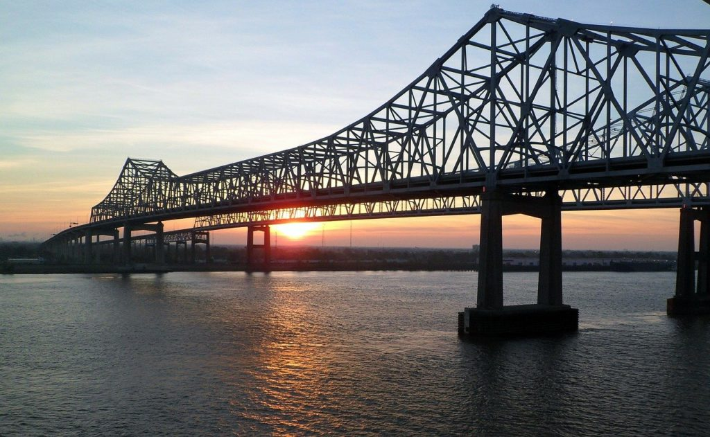 A bridge over water in Mississippi